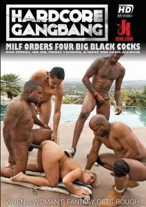 MILF Orders Four Big Black Cocks