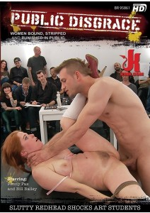Slutty Redhead Shocks Art Students